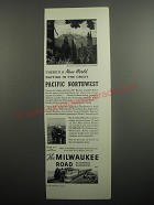 1937 The Milwaukee Road Railroad Ad - There's a new world waiting