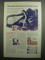 1937 Eveready Batteries Ad - What was that hiss of doom in Mrs. Barton's Room?