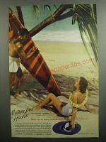 1937 Maston Line Cruise Ad - There are so many reasons to be happy in Hawaii