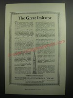 1937 Metropolitan Life Insurance Ad - The great imitator