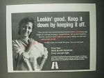 1991 National High Blood Pressure Education Program Ad - Lookin' good.