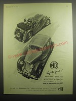 1949 MG Cars Ad - MG Safety Fast!