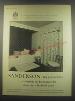 1949 Sanderson Wallpaper Ad - Sanderson Wallpapers a criterion in decoration