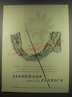 1949 Sanderson Indecolor Fabrics Ad - sun-resisting.. Wash proof