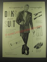 1949 Simpson DAKS dinner suit Ad - New inspiration for evening comfort
