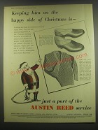 1949 Austin Reed Slippers and Pullovers Ad - Keeping him on the happy side