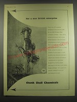 1949 Shell Chemicals Ad - For a new British enterprise