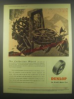 1949 Dunlop Tires Ad - art by Anthony Brandt - The Catherine Wheel