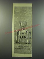 1949 Floris English Bluebells Perfume Ad - exclusive flower perfumes