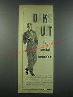 1949 Simpson Daks Suit Ad - DAKS suit a social success