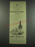 1949 Harvey's Bristol Dry Sherry Ad - Introducing a new member