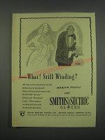 1949 Smiths Sectric Clocks Ad - What! Still winding?