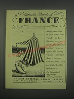 1949 French National Tourist Office Ad - Seaside resorts of France