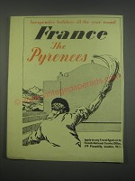 1949 French National Tourist Office Ad - Inexpensive holidays all the year