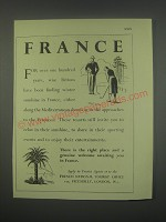 1949 French National Tourist Office Ad - France