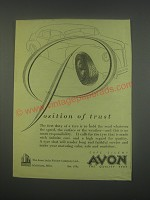 1949 Avon Tires Ad - Position of trust