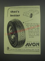 1949 Avon Tires Ad - That's better