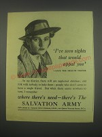 1949 Salvation Army Ad - I've seen sights that would appal you
