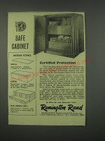 1949 Remington Rand Safe-Cabinet Ad - Certified protection