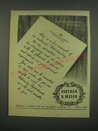1949 Fortnum & Mason Letterhead Ad - Here is a fine example of embossed
