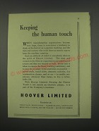 1949 Hoover Limited Ad - Keeping the human touch