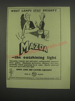 1949 BTH Mazda Lamps and Lighting Equipment Ad - What lamps stay bright?