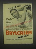 1949 Brylcreem Hair Dressing Ad
