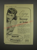 1949 Pifco Electric Vibratory Massager Ad - Enjoy Health-Giving Massage at home