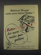 1949 National Benzole Petrol Ad - National Benzole makes good petrol better