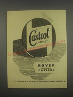 1949 Castrol Motor Oil Ad - Rover recommend Castrol