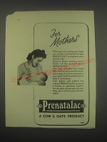 1949 Cow & Gate Prenatalac Ad - For Mothers