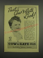 1949 Cow & Gate Milk Food Ad - That Cow & Gate look!