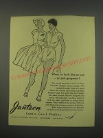 1949 Jantzen Centre Court Clothes Ad - Want to look like an ace