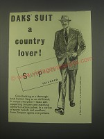 1949 Simpson DAKS Suit Ad - DAKS suit a country lover!