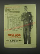 1949 Moss Bros Fashion Ad - The beauty of ready-to-wear