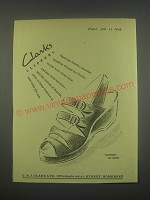 1949 Clarks Clippers Saratoga Sandal Ad