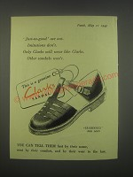 1949 Clarks Guernsey Sandal Ad - Just-as-good are not