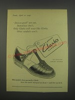 1949 Clarks Le Touquet Sandal Ad - Just-as-good are not