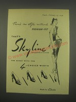 1949 Clarks Skyline Shoes Ad - There's no style without fashion-fit