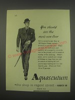 1949 Aquascutum Suits Ad - You should see the men's new floor