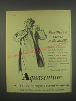 1949 Aquascutum Raincoats Golf Jackets and Sportswear Ad