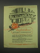 1949 English Rose Kitchen Furnishings Ad - Britain's most beautiful range
