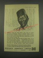 1949 Monsanto Chemicals Ad - Ahmat makes his living from a few acres of rubber