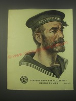 1949 Player's Navy Cut Cigarettes Ad - H.M.S. Excellent