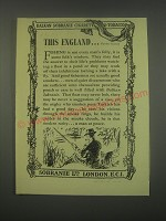 1949 Balkan Sobranie Tobacco Ad - This England.. Number Thirteen