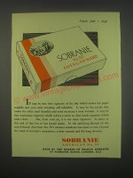 1949 Sobranie American Blend No. 50 Cigarettes Ad - that first of the day