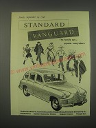 1949 Standard Vanguard Car Ad - The family car - popular everywhere