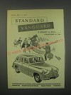 1949 Standard Vanguard Car Ad - A pleasure to drive.. Economical to run
