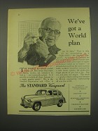 1949 Standard Vanguard Car Ad - We've got a world plan