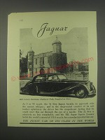 1949 Jaguar Cars Ad - 16th century gatehouse, charlecote park, Stratford-on-Avon